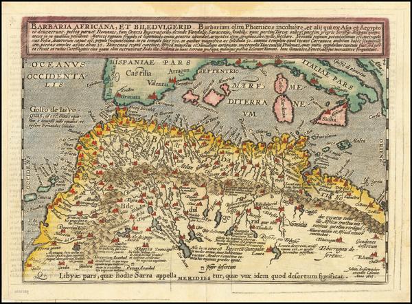 81-North Africa Map By Matthias Quad / Johann Bussemachaer