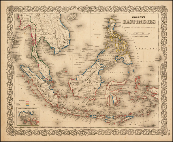 95-Southeast Asia, Philippines and Other Pacific Islands Map By Joseph Hutchins Colton