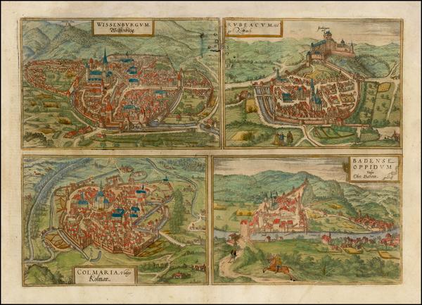 36-Germany Map By Georg Braun  &  Frans Hogenberg