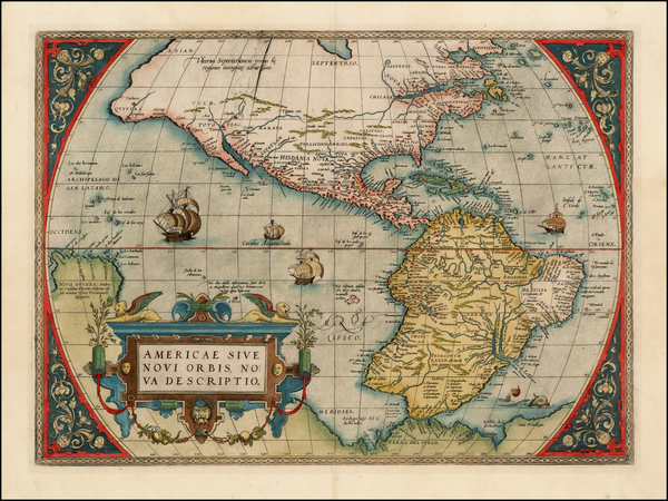 15-Western Hemisphere, South America and America Map By Abraham Ortelius