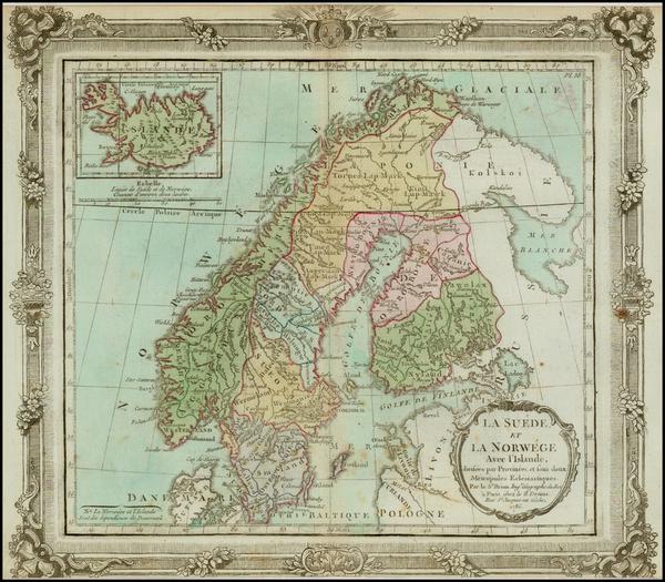 34-Scandinavia Map By Louis Brion de la Tour