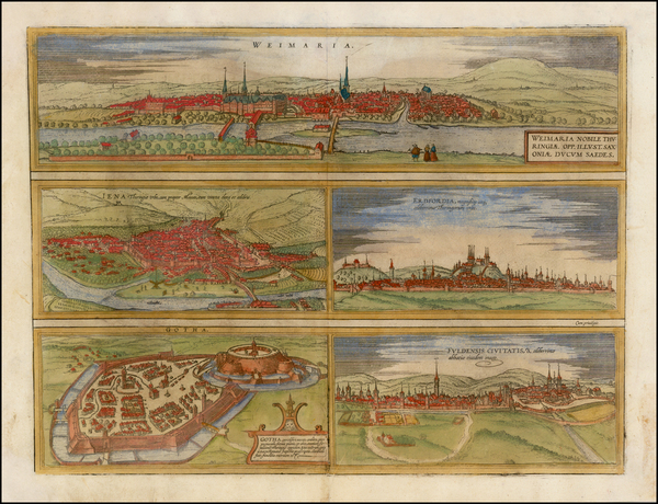 29-Germany Map By Georg Braun  &  Frans Hogenberg