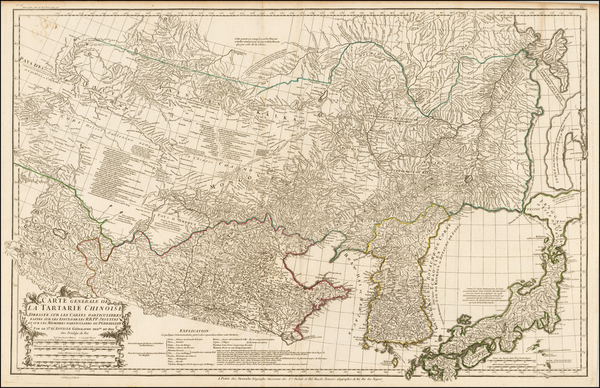 6-China, Japan, Korea and Central Asia & Caucasus Map By Jean André Dezauche / Jean-Ba