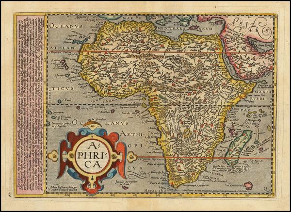58-Africa Map By Matthias Quad / Johann Bussemachaer