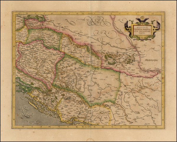 77-Balkans Map By  Gerard Mercator