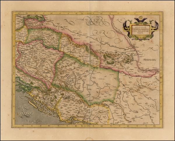 63-Balkans Map By  Gerard Mercator