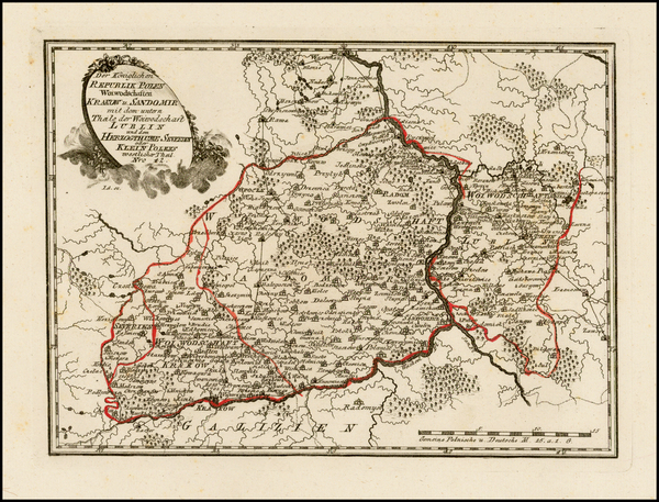 55-Poland and Russia Map By Franz Johann Joseph von Reilly