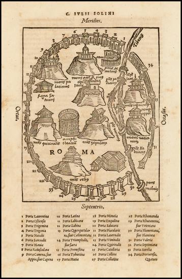 22-Italy Map By Caius Julius Solinus