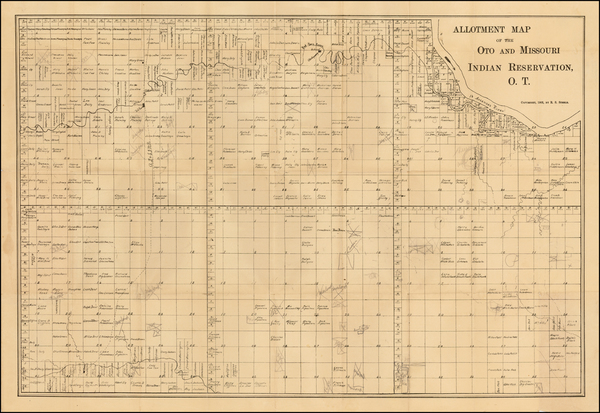 63-Plains and Oklahoma & Indian Territory Map By R. S. Steele