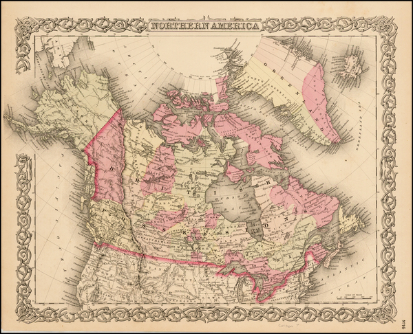 27-Alaska and Canada Map By G.W.  & C.B. Colton