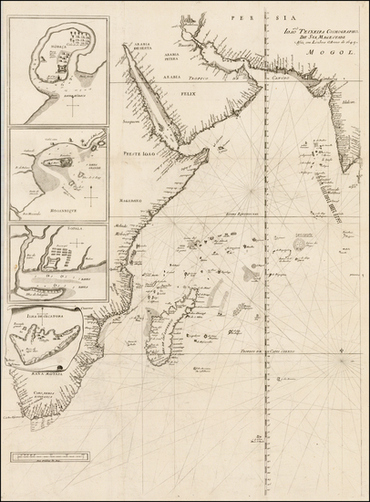 4-India, Africa, Africa, South Africa, East Africa and African Islands, including Madagascar Map