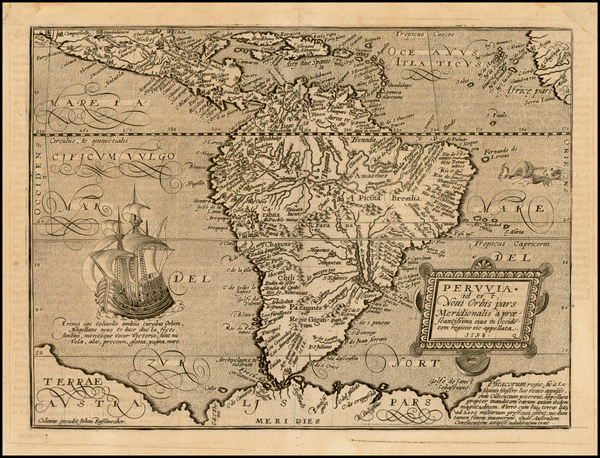 61-Central America and South America Map By Matthias Quad / Johann Bussemachaer