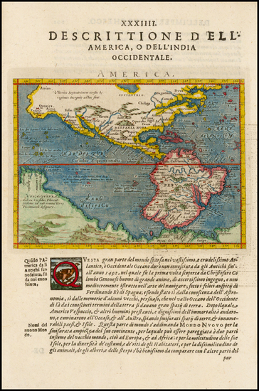 13-Western Hemisphere, South America, Australia and America Map By Giovanni Antonio Magini