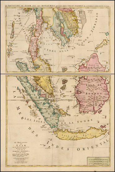 48-Southeast Asia, Singapore, Indonesia and Malaysia Map By Pieter Mortier