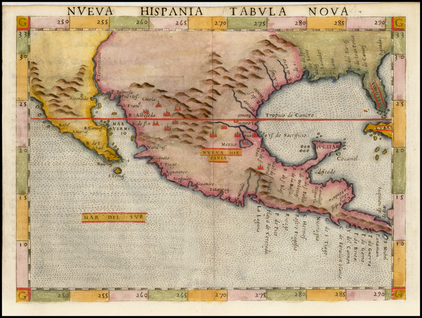 44-South, Southeast, Texas, Southwest, Rocky Mountains, Mexico and Baja California Map By Girolamo