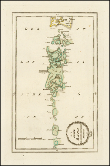 90-Scotland Map By Franz Johann Joseph von Reilly