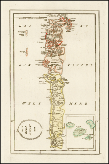 34-Scotland Map By Franz Johann Joseph von Reilly