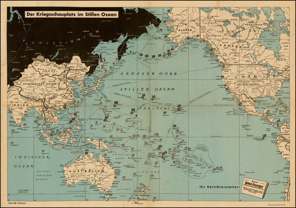 17-South America, Asia, Asia, Australia & Oceania, Pacific, Oceania and America Map By Berline