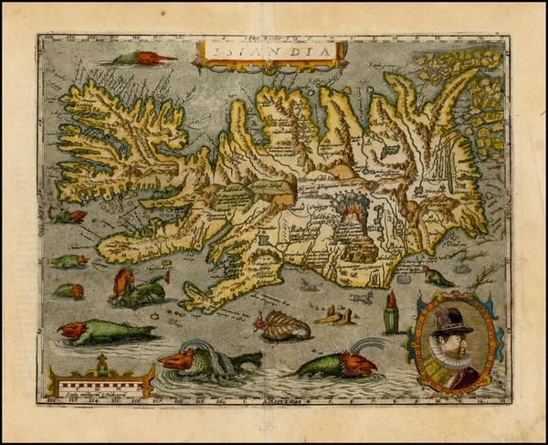 82-Atlantic Ocean and Iceland Map By Matthias Quad