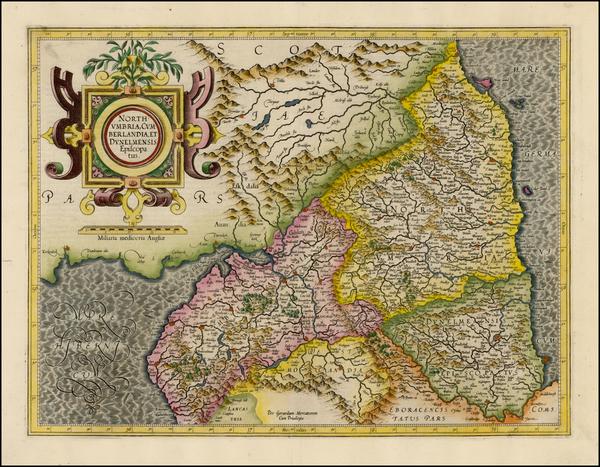 89-British Isles and Scotland Map By  Gerard Mercator