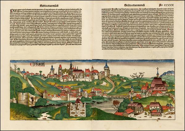 74-Czech Republic & Slovakia Map By Hartmann Schedel
