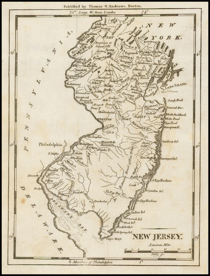 20-Mid-Atlantic and New Jersey Map By Samuel Morse