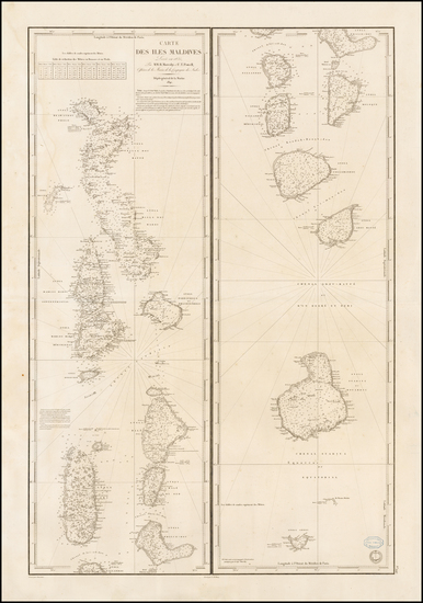 90-India and Other Islands Map By Depot de la Marine