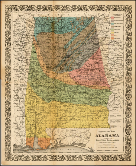 93-South and Alabama Map By