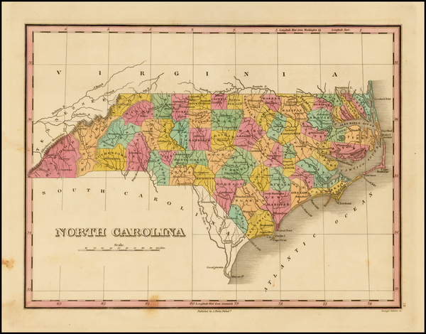 Southeast and North Carolina Map By Anthony Finley