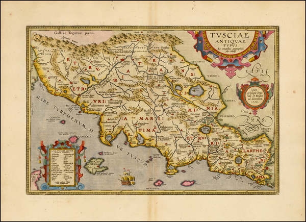 67-Italy and Northern Italy Map By Abraham Ortelius