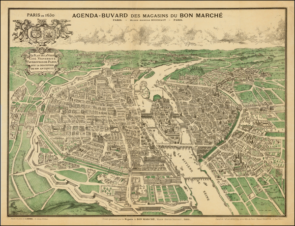 23-France and Paris Map By A. Guibal