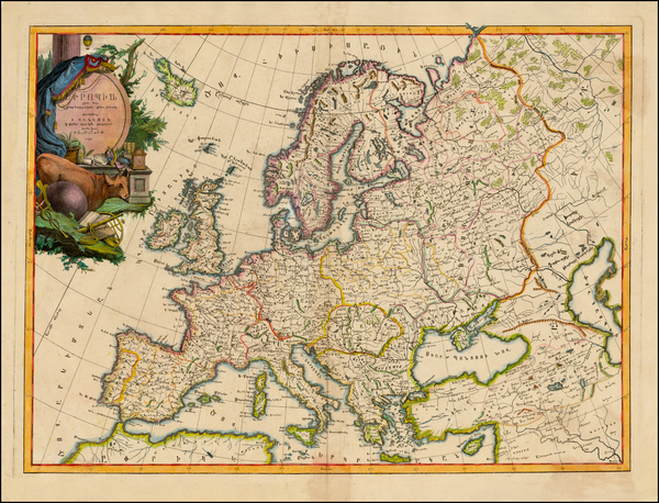 82-Europe, Europe, Turkey and Central Asia & Caucasus Map By Elia Endasian
