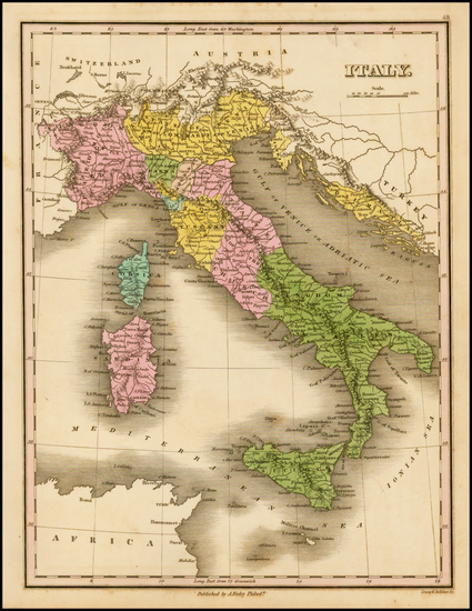 32-Italy and Balearic Islands Map By Anthony Finley