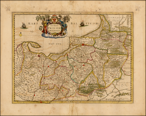 36-Germany and Poland Map By Henricus Hondius