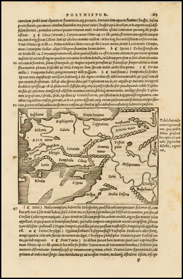 59-Middle East and Turkey & Asia Minor Map By Caius Julius Solinus