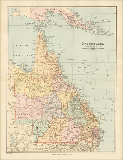 4-Australia Map By Edward Stanford