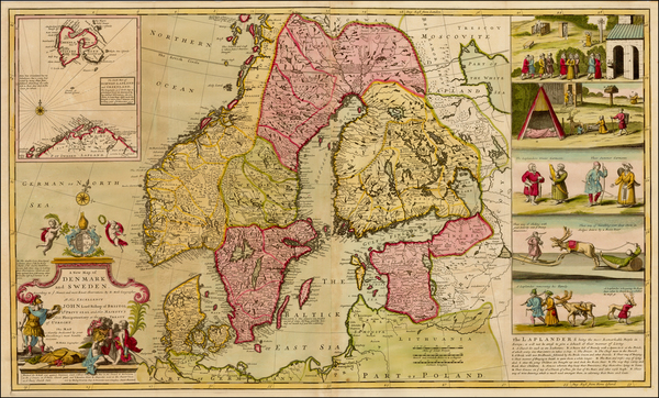 30-Baltic Countries, Scandinavia and Denmark Map By Herman Moll