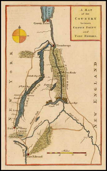 43-New England and New York State Map By Gentleman's Magazine