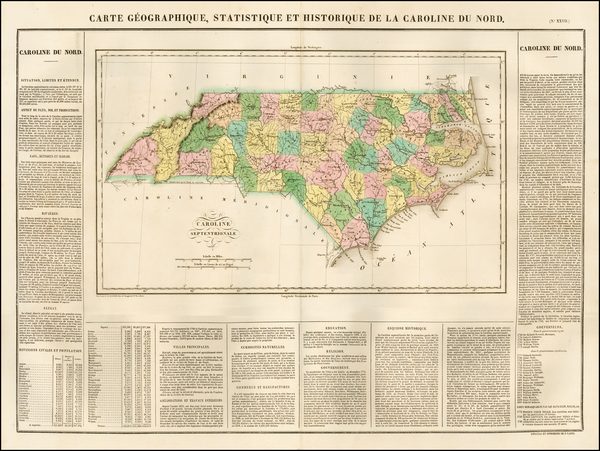 7-North Carolina Map By Jean Alexandre Buchon