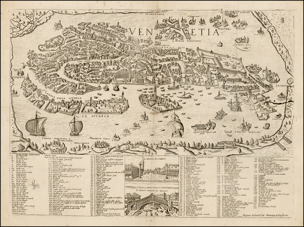 Venice Map By Stefano Scolari