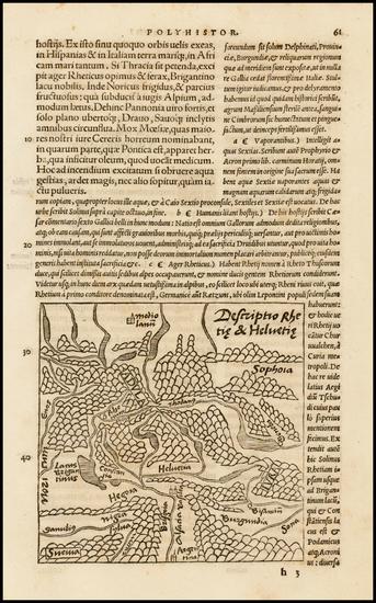 13-Switzerland Map By Caius Julius Solinus