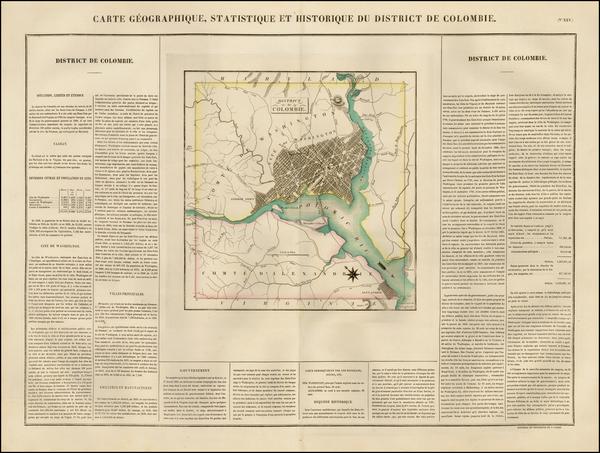 53-Washington, D.C. Map By Jean Alexandre Buchon