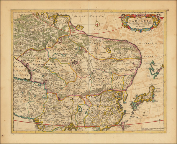 36-China, Japan, Korea, Central Asia & Caucasus and Russia in Asia Map By Frederick De Wit
