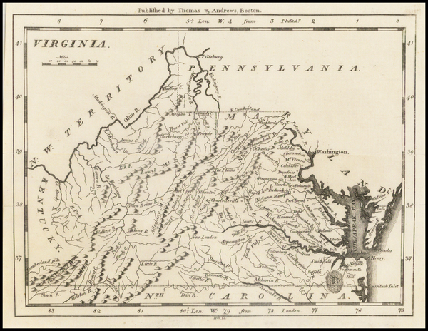 68-Southeast and Virginia Map By Jedidiah Morse