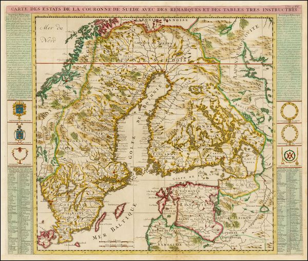 75-Baltic Countries and Scandinavia Map By Henri Chatelain