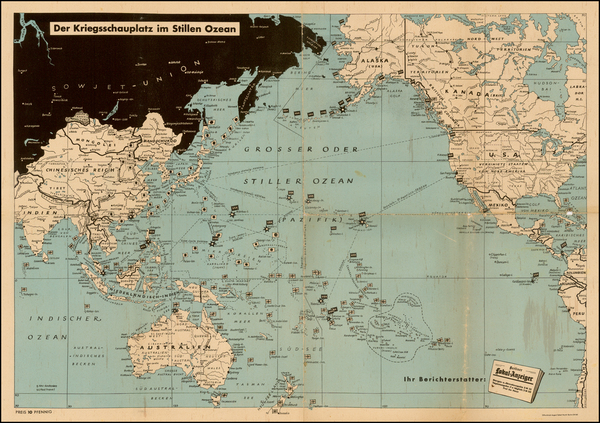 30-South America, Asia, Asia, Australia & Oceania, Pacific, Oceania and America Map By Berline