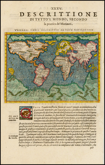 39-World Map By Giovanni Antonio Magini