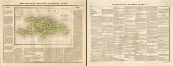 22-Caribbean and Hispaniola Map By Jean Alexandre Buchon