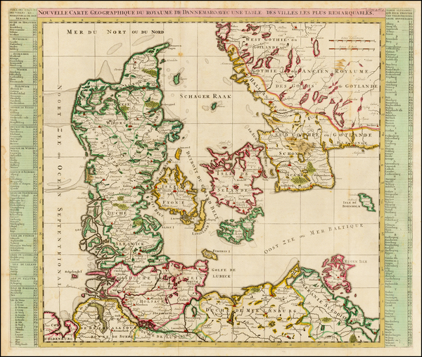 Denmark Map By Henri Chatelain