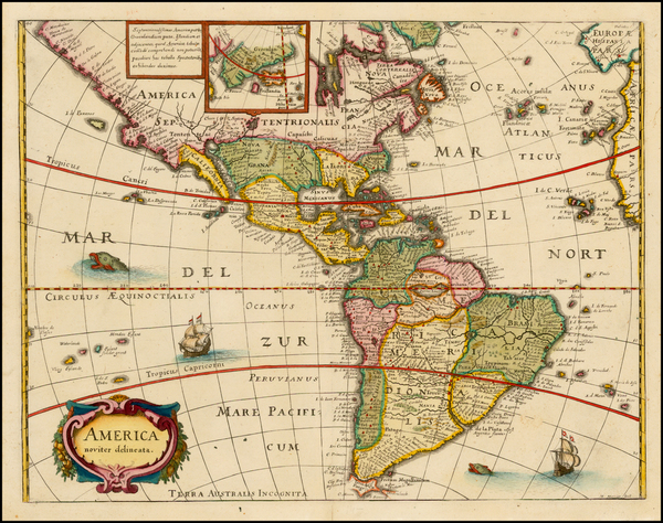 19-South America and America Map By Matheus Merian